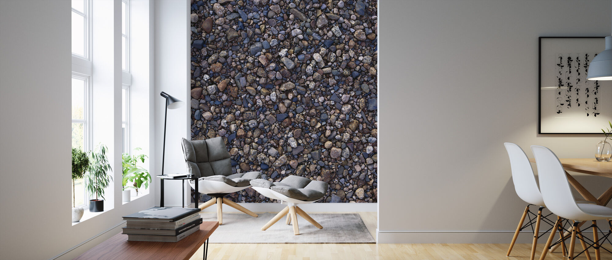 Dark Pebbles - Wallpaper - Living Room
