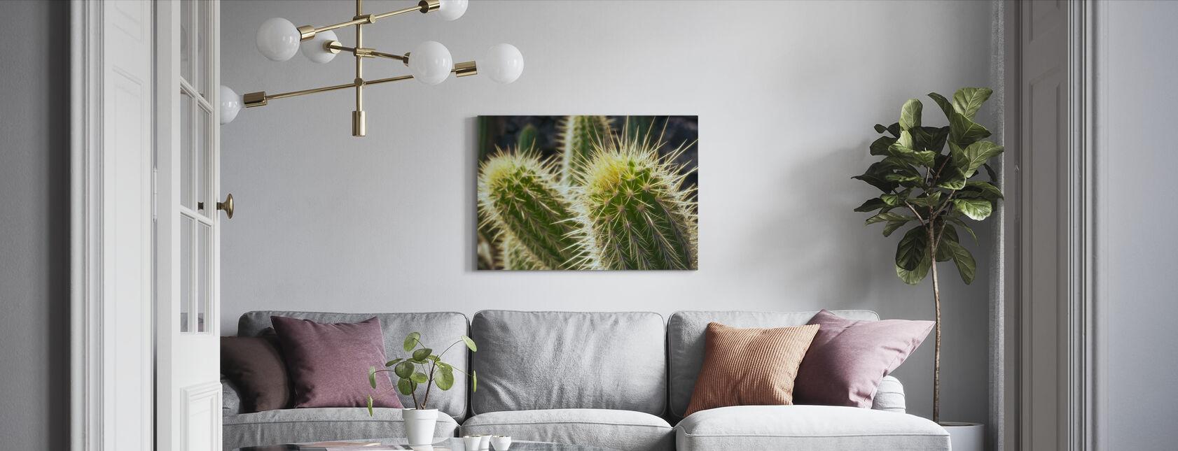 Golden Barrel Cactus - Canvas print - Living Room