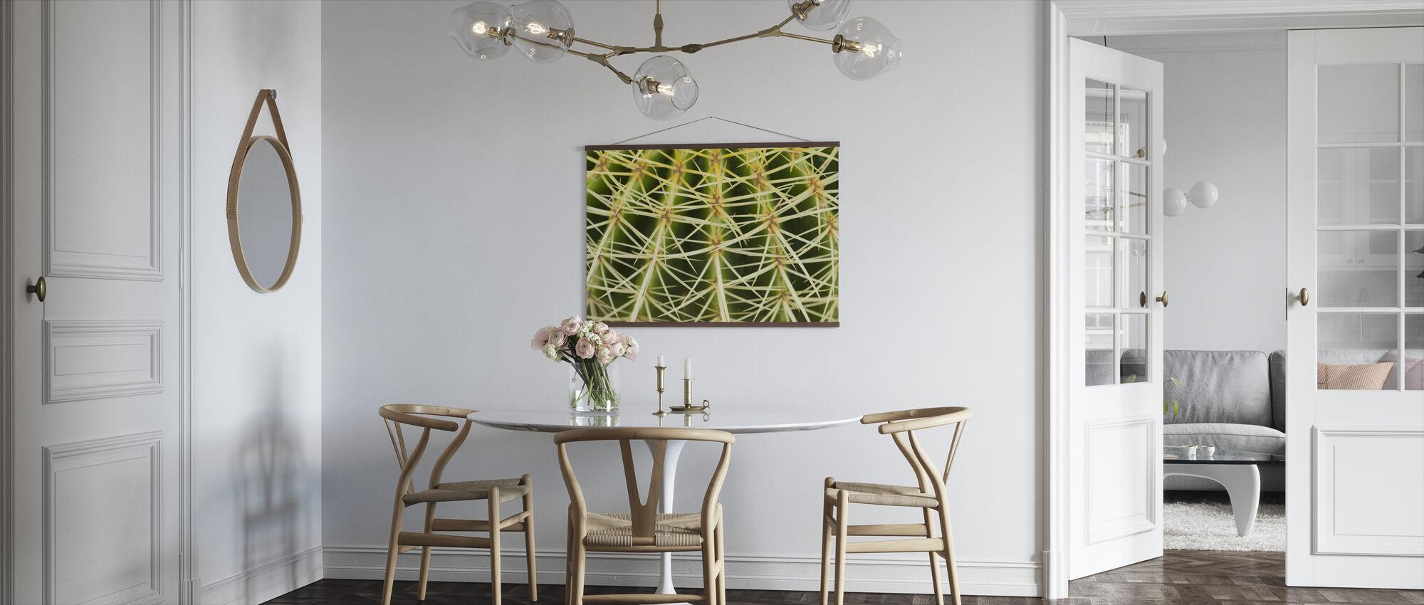 Kultainen tynnyri Kaktus lähietäisyydeltä - Juliste - Keittiö
