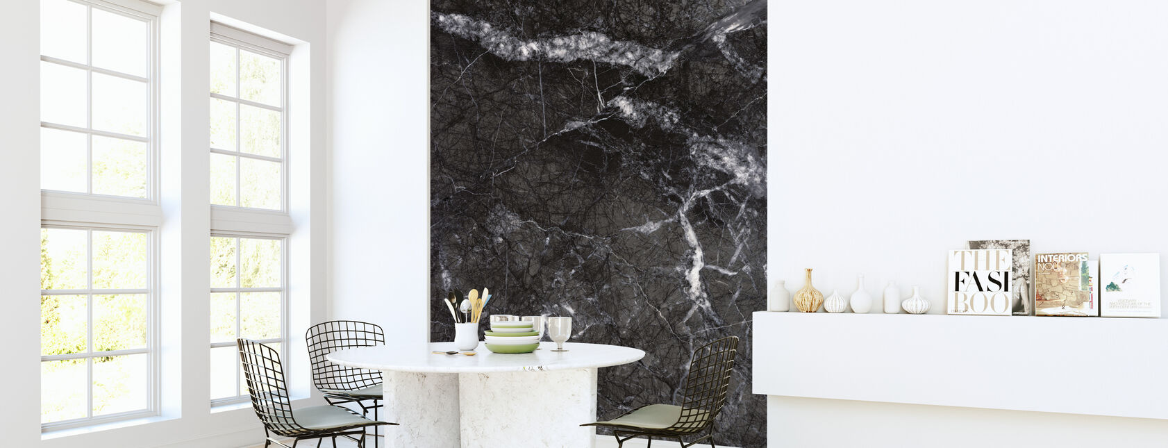 Gray Marble Close Up - Wallpaper - Kitchen