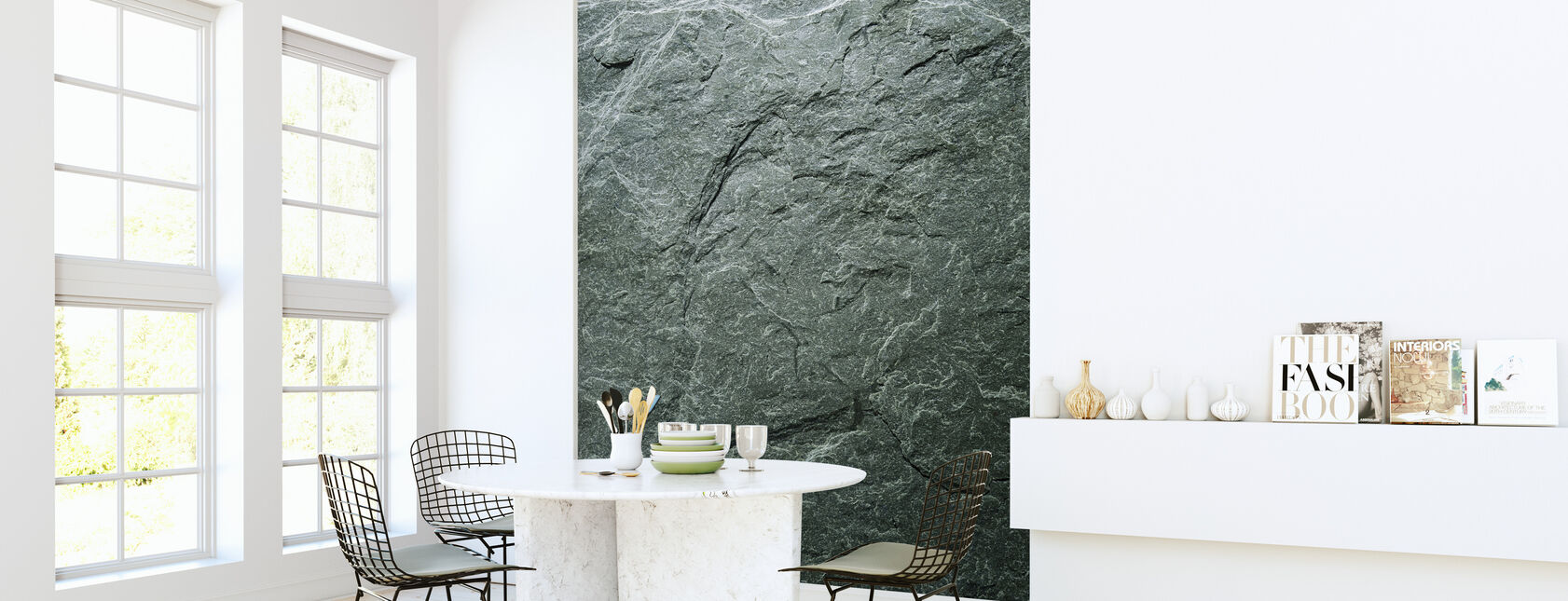 Greengray leisteen - Behang - Keuken