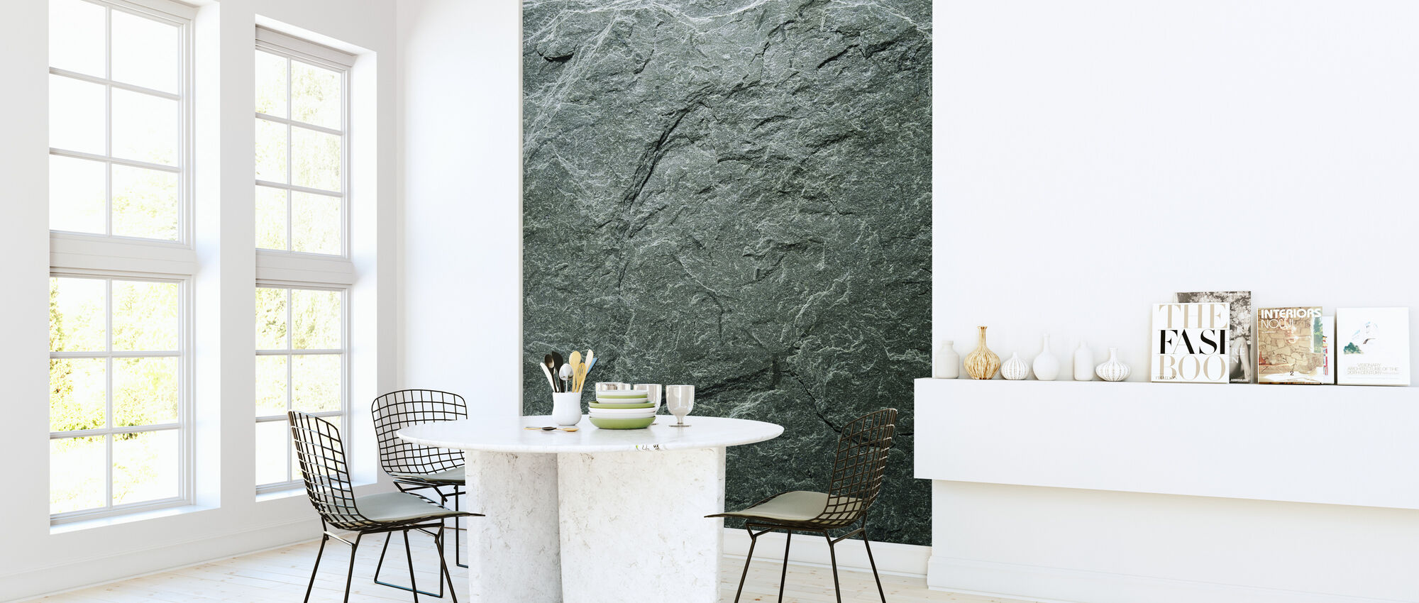 Greengray Slate - Wallpaper - Kitchen