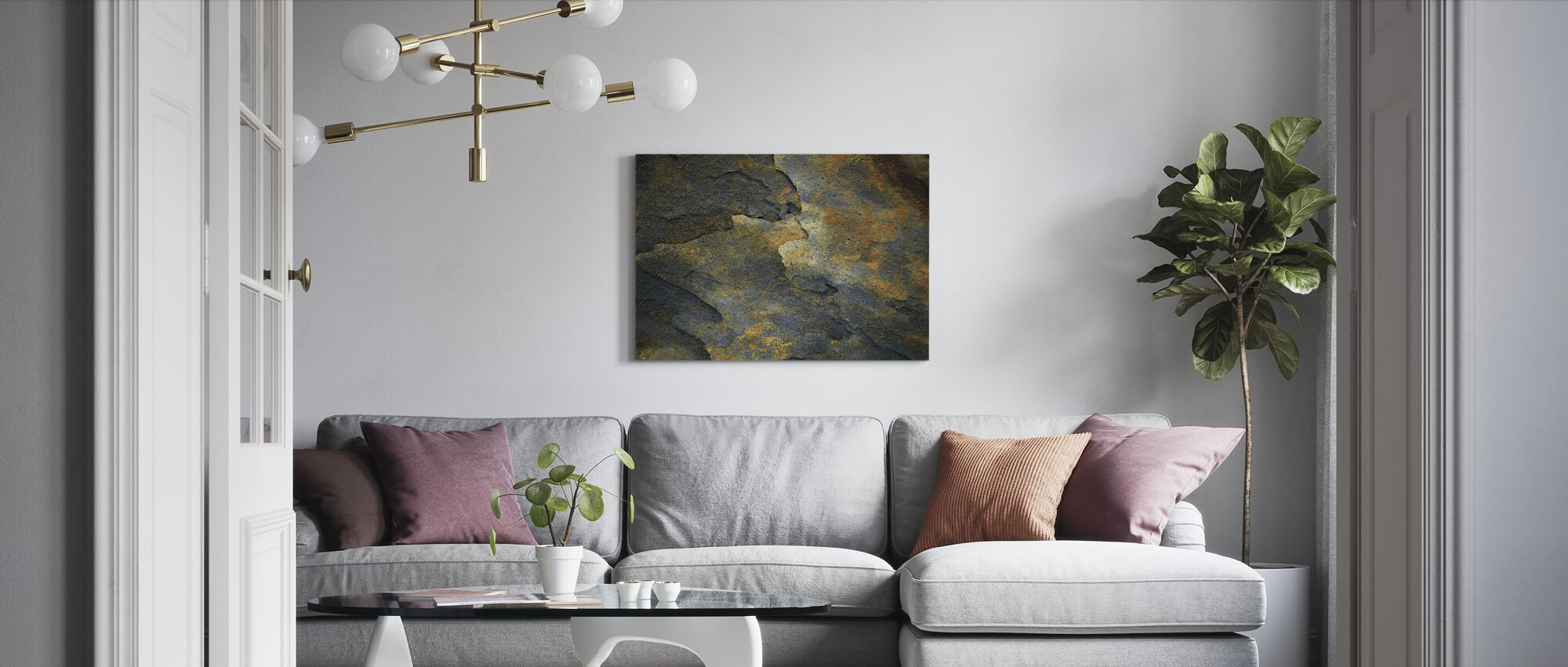 Minerale Rots - Canvas print - Woonkamer