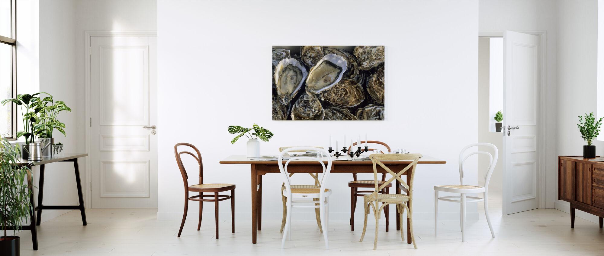 Oesters - Canvas print - Keuken