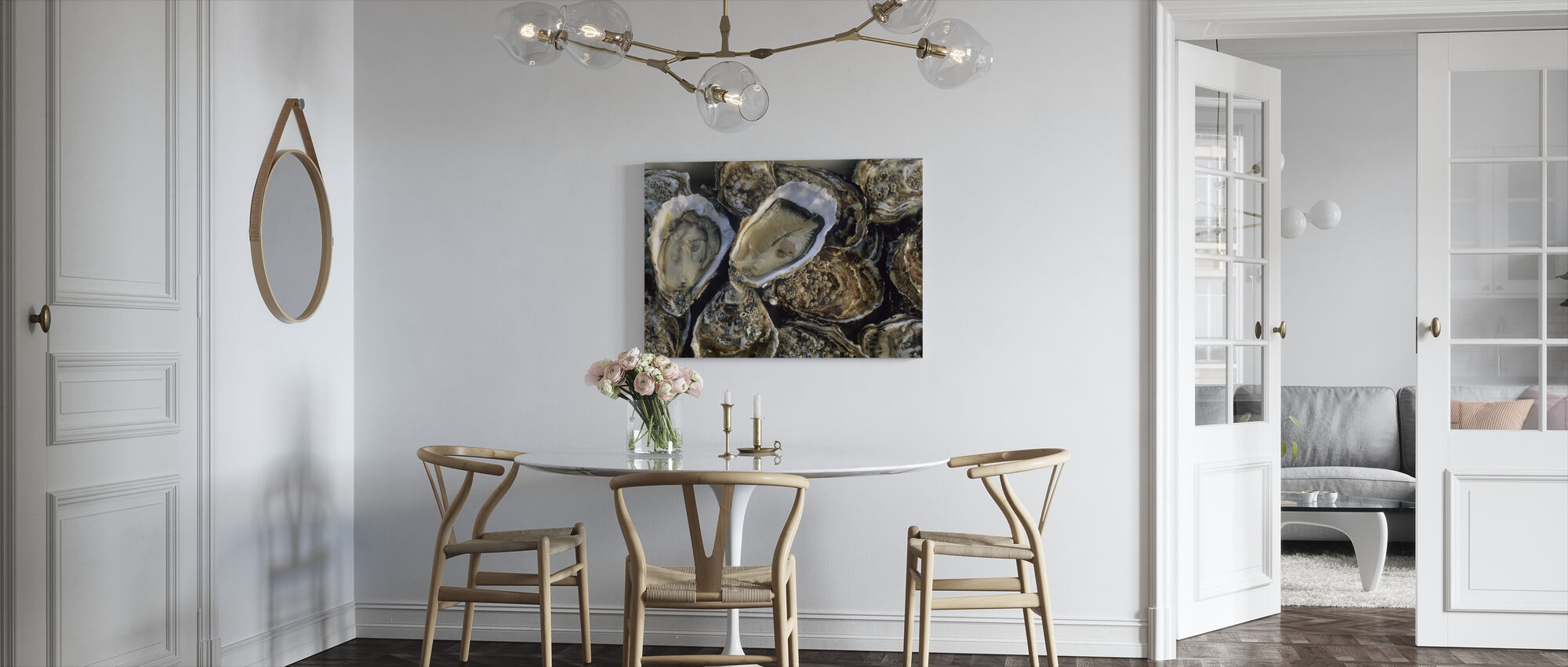 Oysters - Canvas print - Kitchen