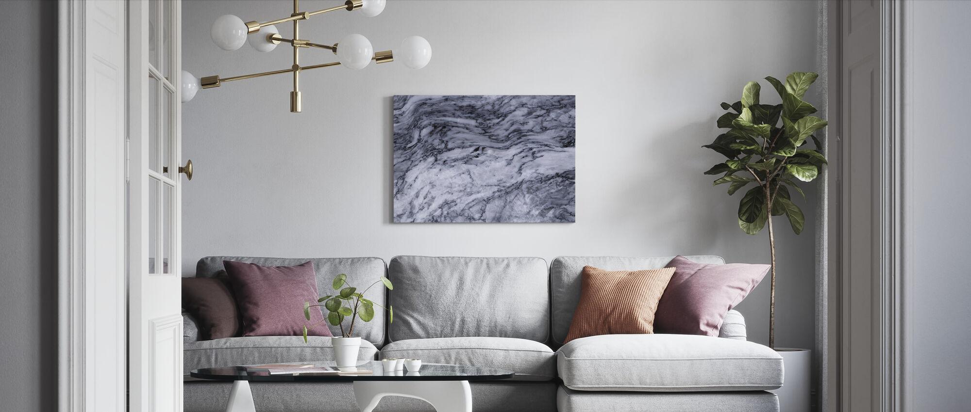 Glatt marmor nærbilde - Lerretsbilde - Stue