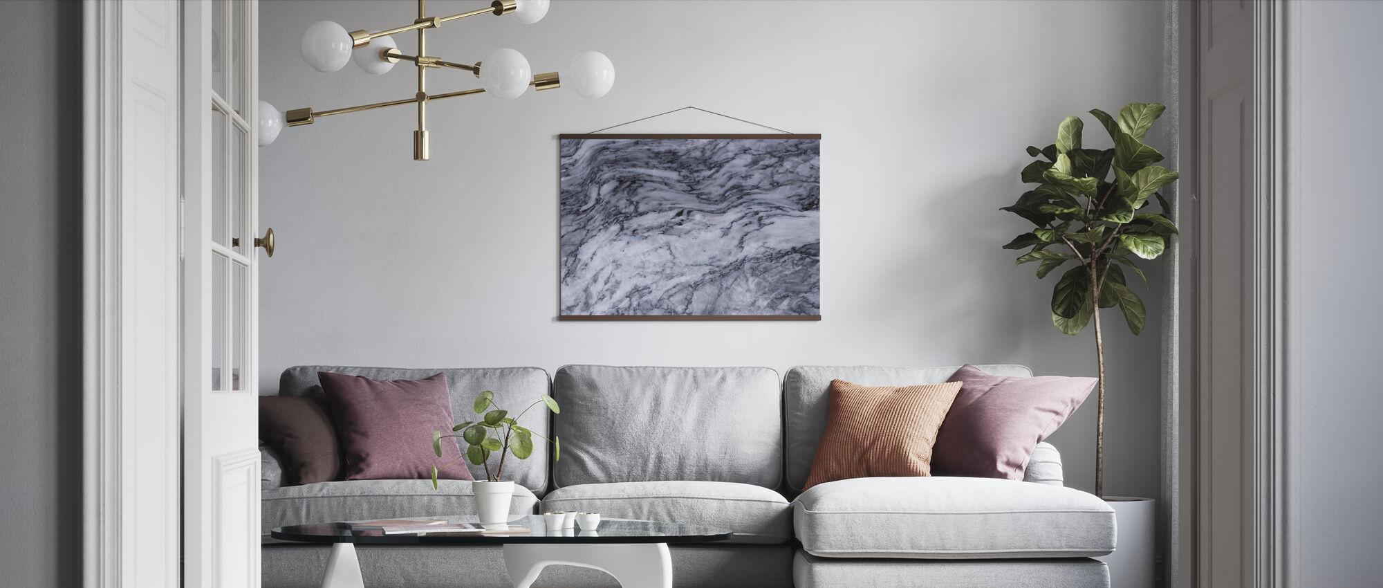 Sileä marmori lähietäisyydeltä - Juliste - Olohuone