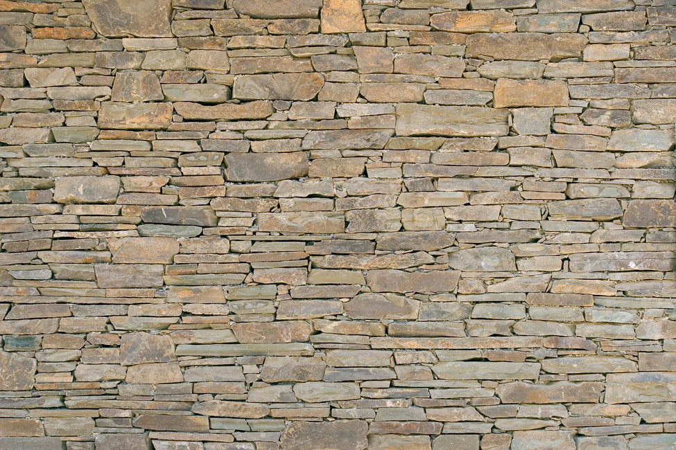 Stacked Stone Wall Fototapeter & Tapeter 100 x 100 cm