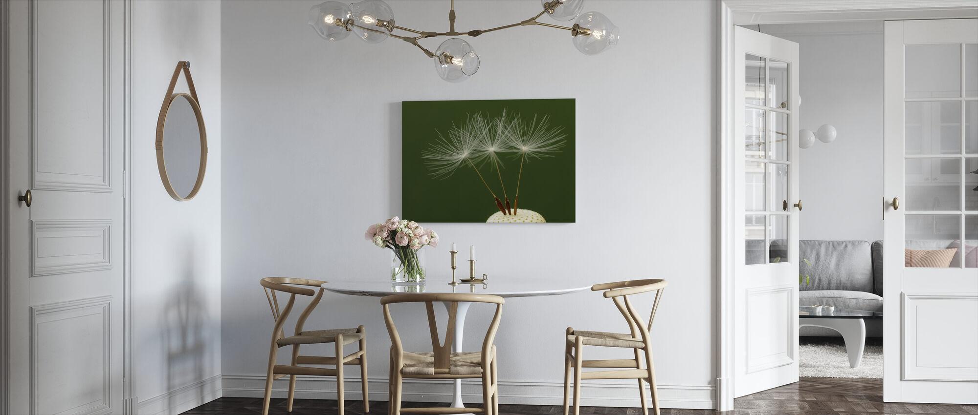 Three Dandelion Seeds - Canvas print - Kitchen