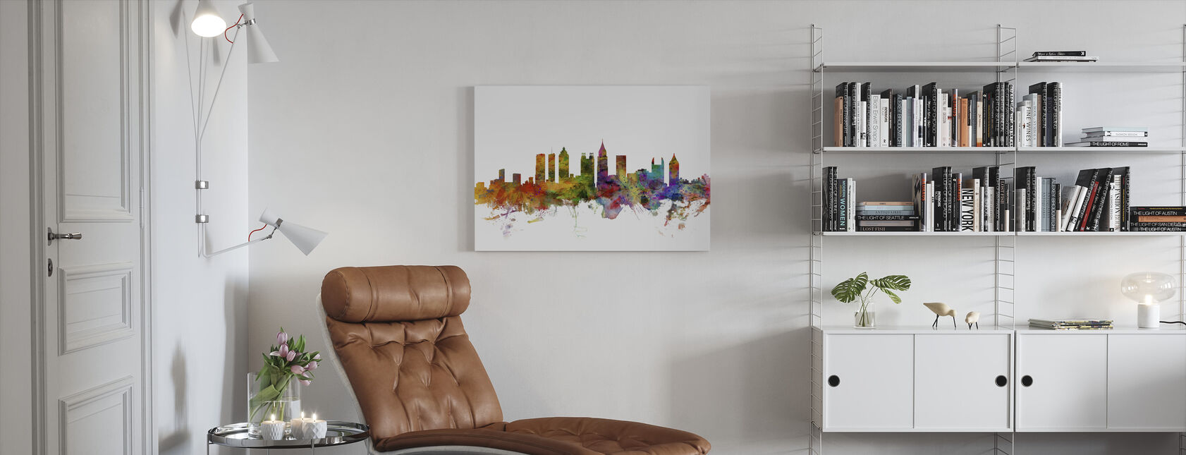 Atlanta Georgia Skyline - Canvas print - Woonkamer