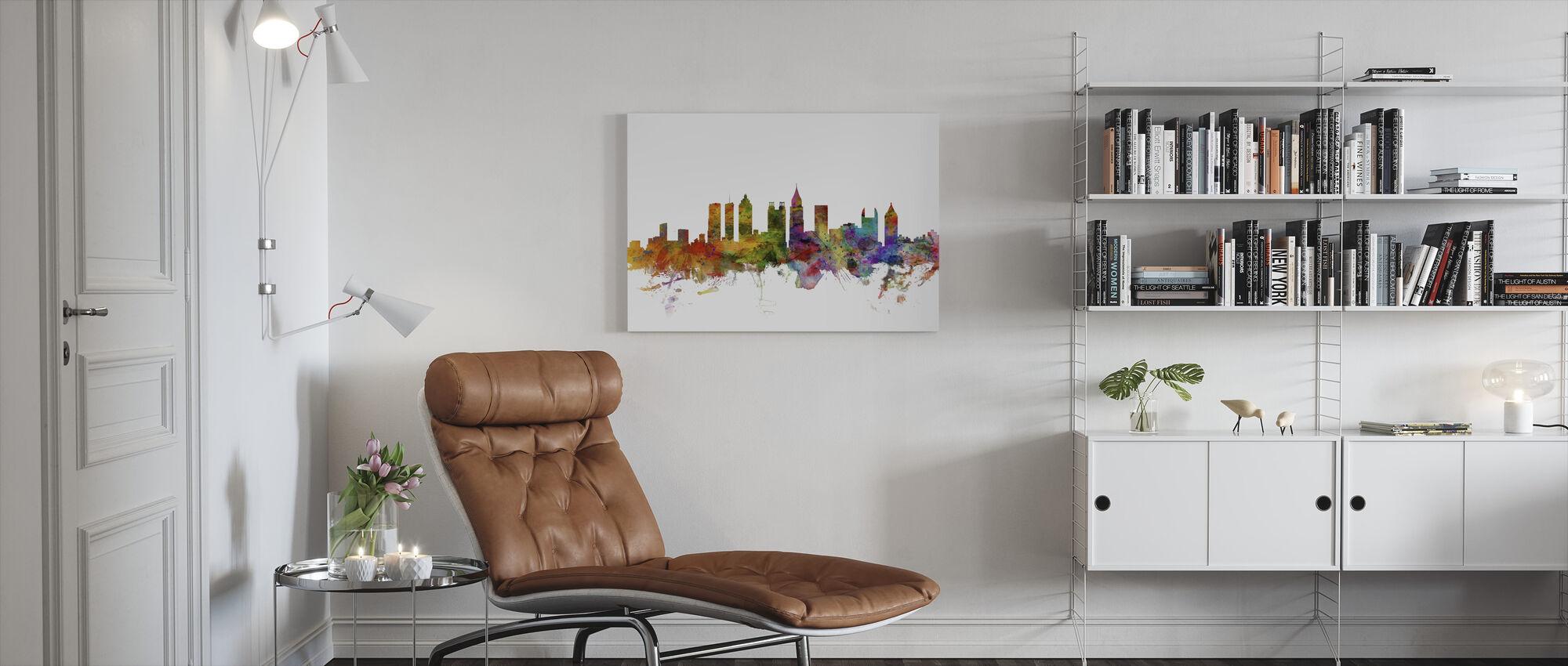 Atlanta Georgia Skyline - Canvas print - Living Room