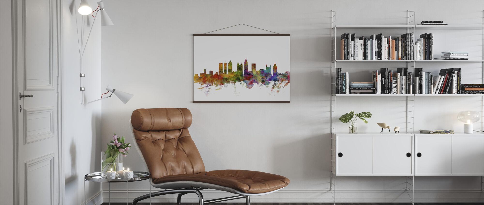 Atlanta Georgia Skyline - Poster - Woonkamer