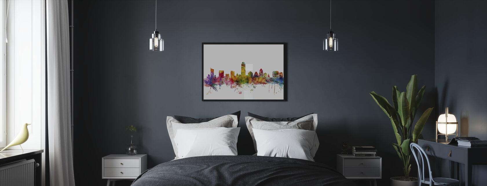 Austin Texas Skyline - Framed print - Bedroom