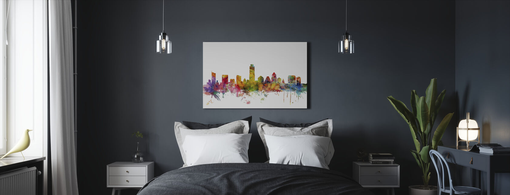 Austin Texas Skyline - Canvas print - Bedroom