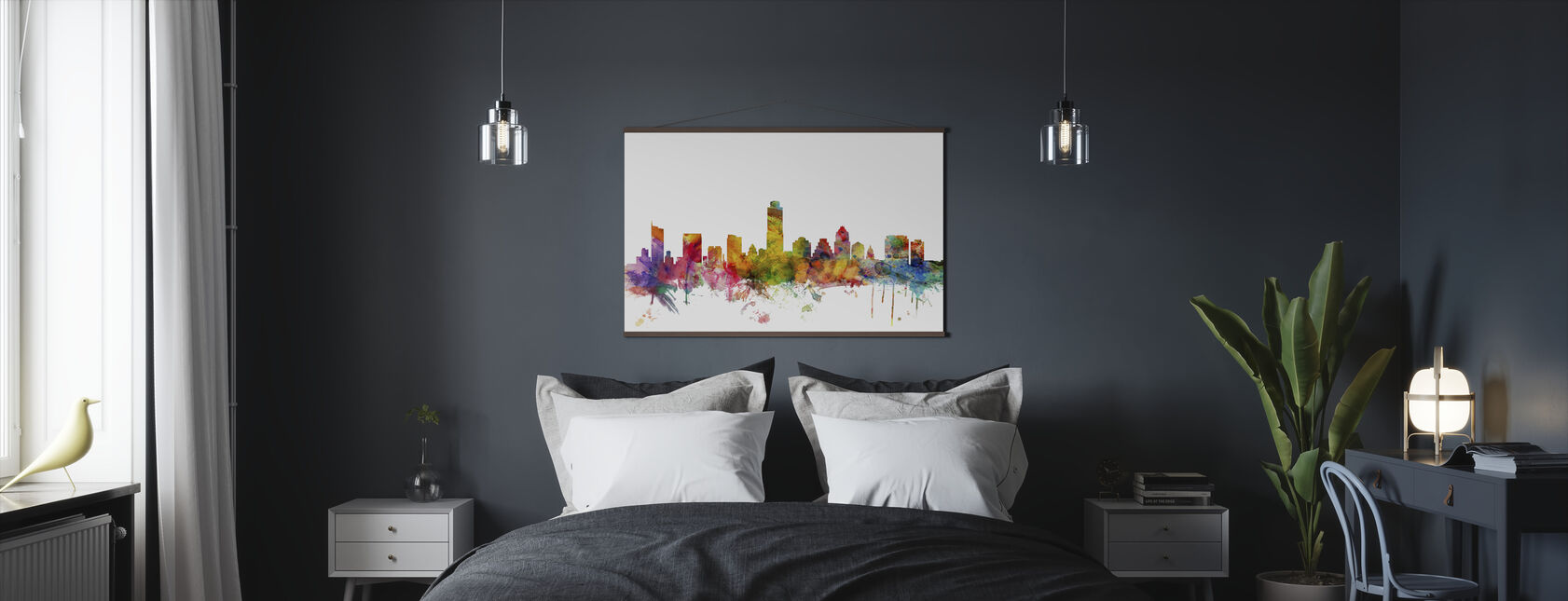 Austin Texas Skyline - Poster - Bedroom