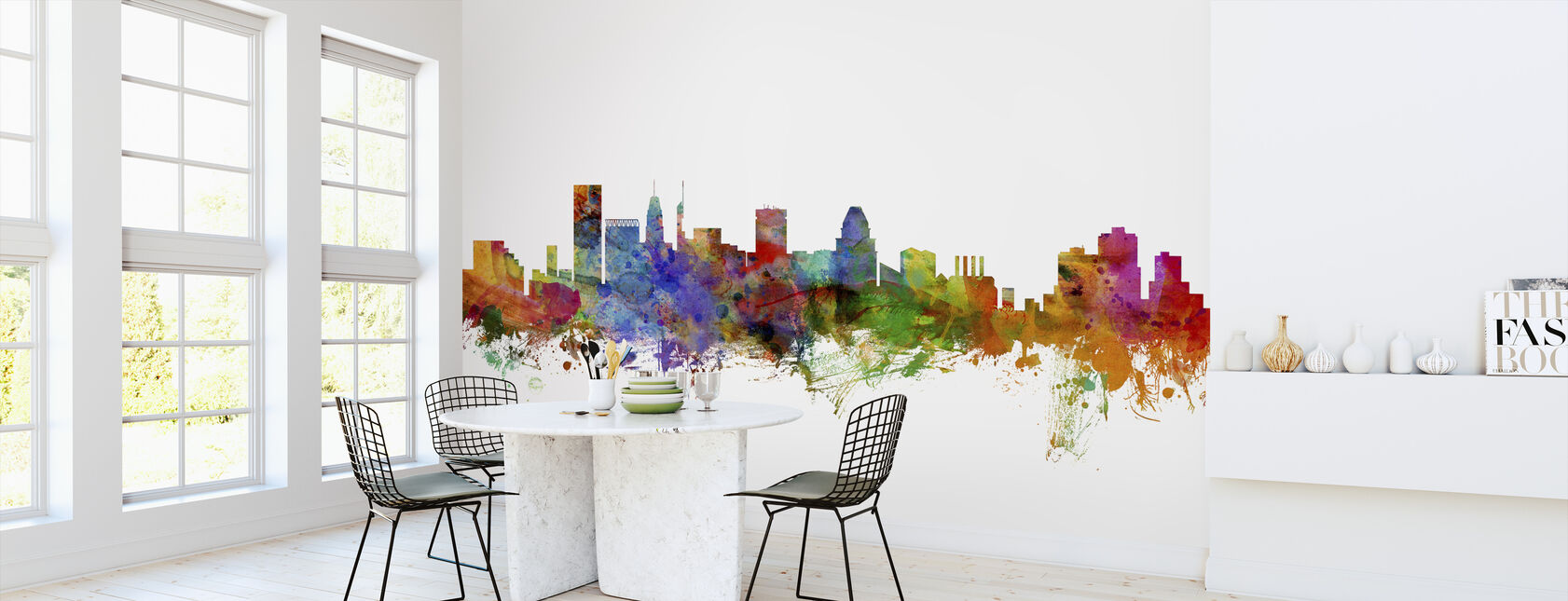 Baltimore Maryland Skyline - Wallpaper - Kitchen
