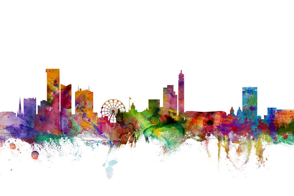 Birmingham england skyline wall mural photo wallpaper for England wall mural