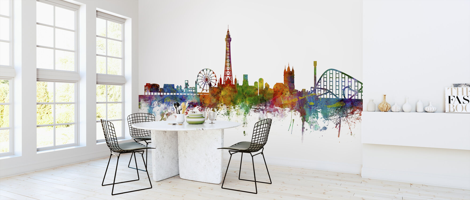 Blackpool England Skyline - Wallpaper - Kitchen