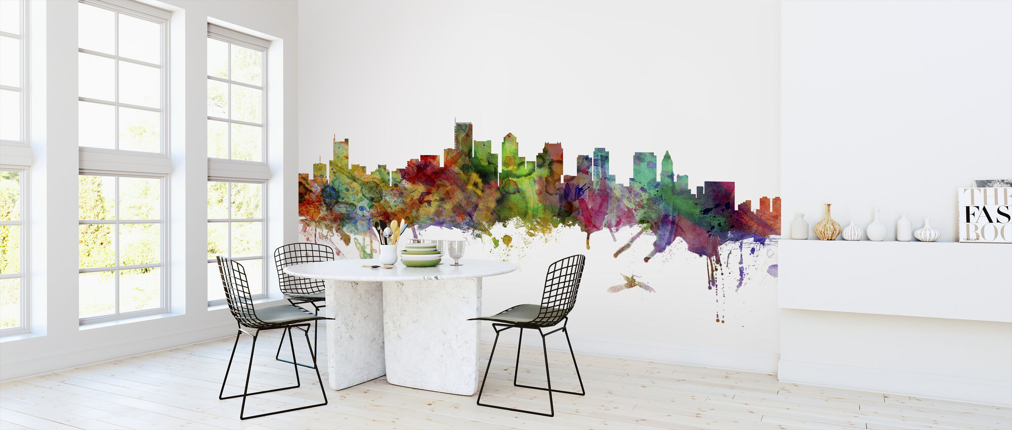 Boston Massachusetts Skyline - Wallpaper - Kitchen