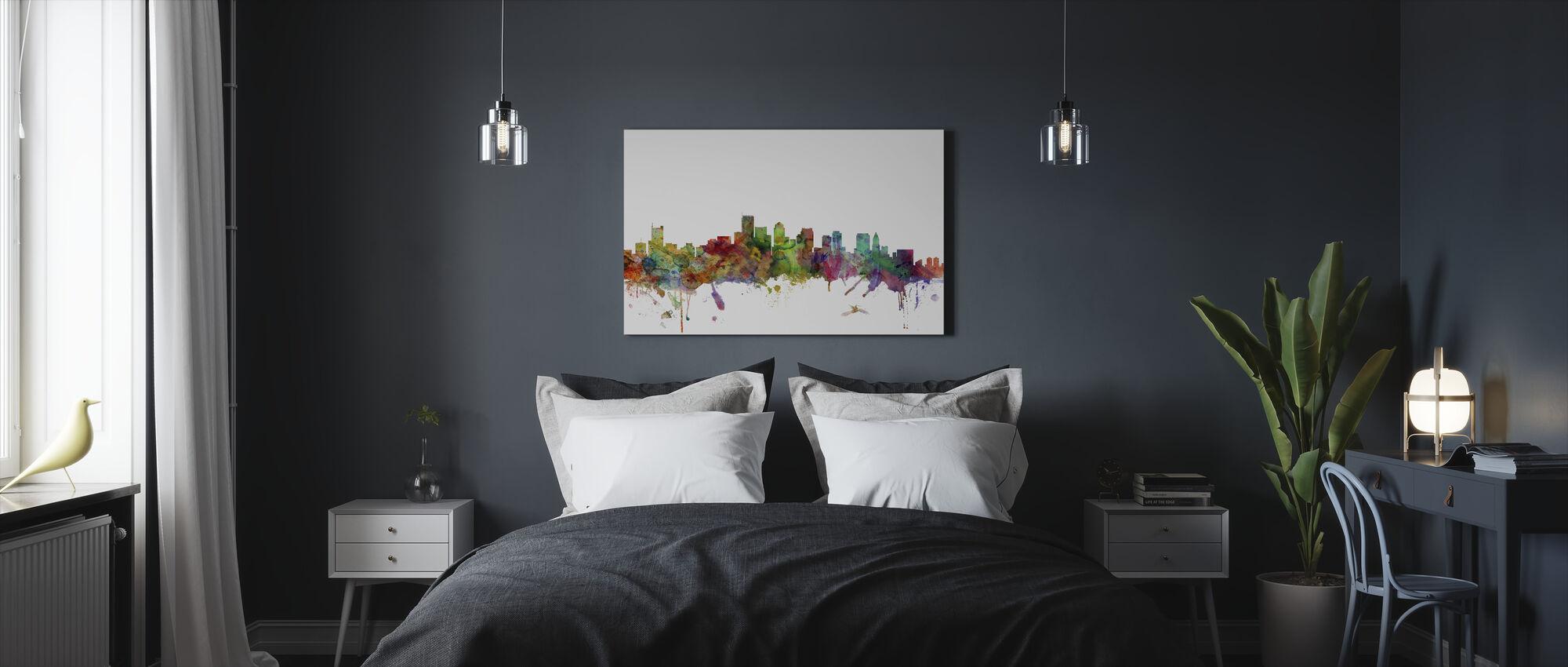 Boston Massachusetts Skyline - Canvas print - Bedroom