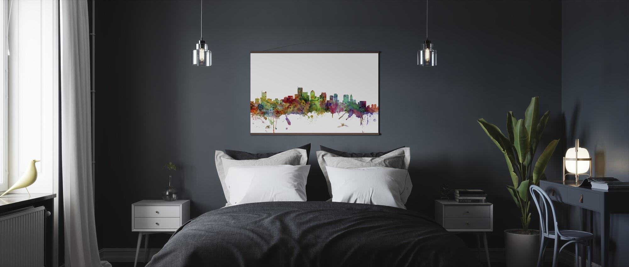 Boston Massachusetts Skyline - Poster - Bedroom