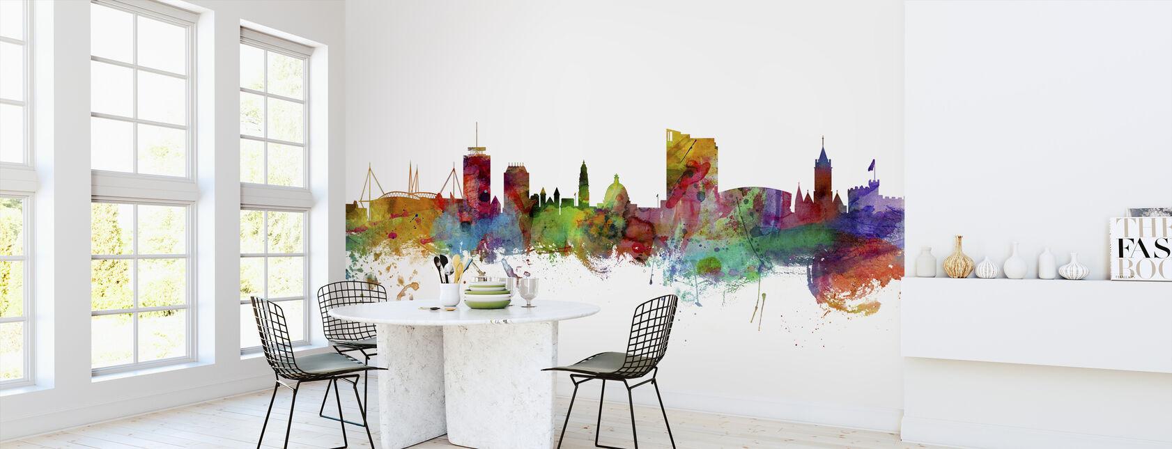 Cardiff Wales Skyline - Wallpaper - Kitchen
