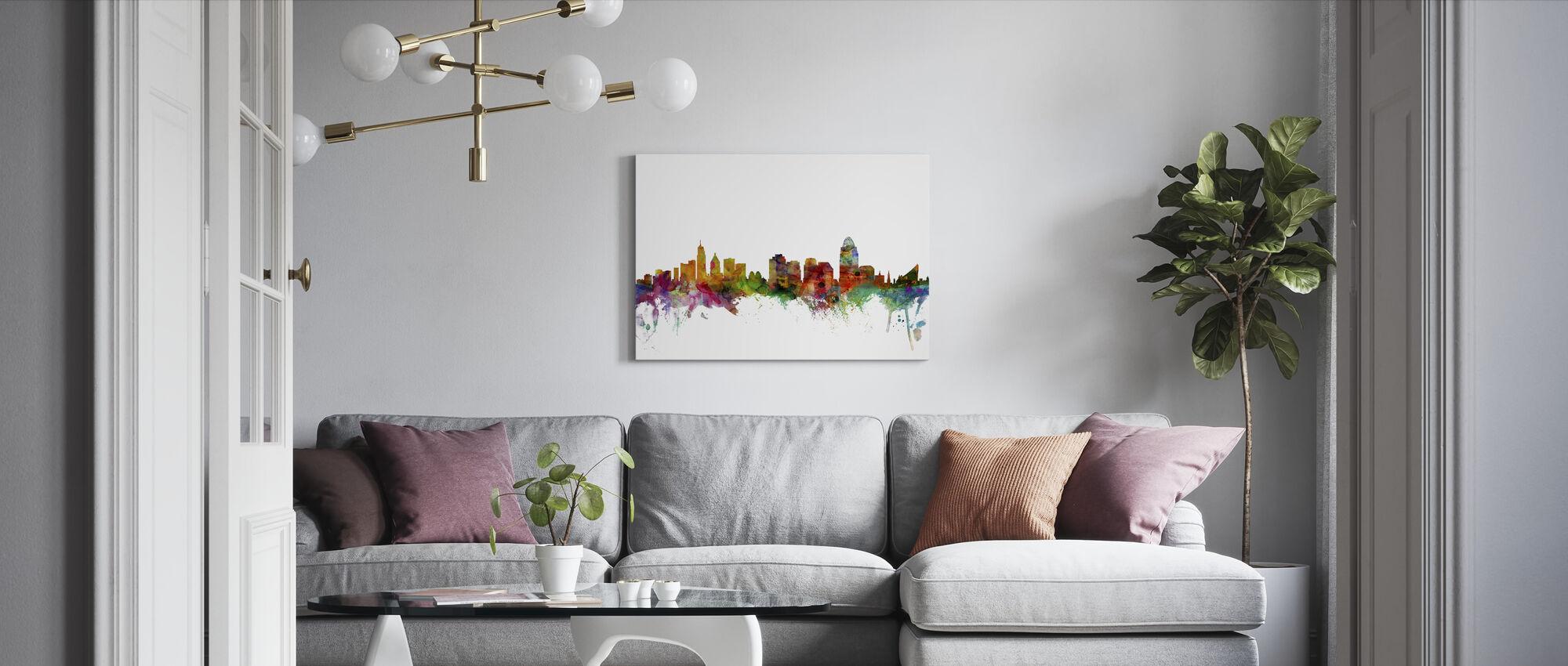Skyline van Cincinnati Ohio - Canvas print - Woonkamer