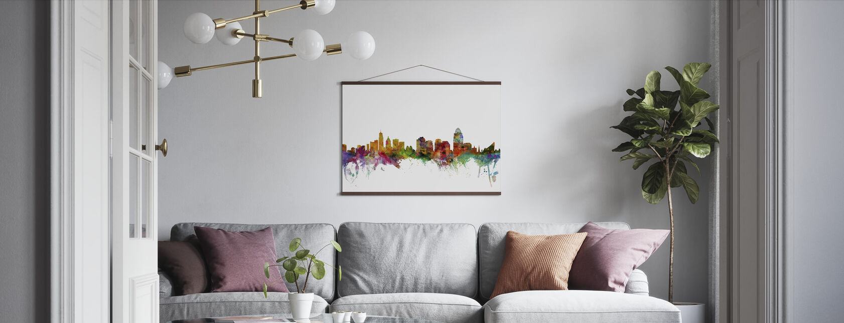 Cincinnati Ohio Skyline - Poster - Living Room