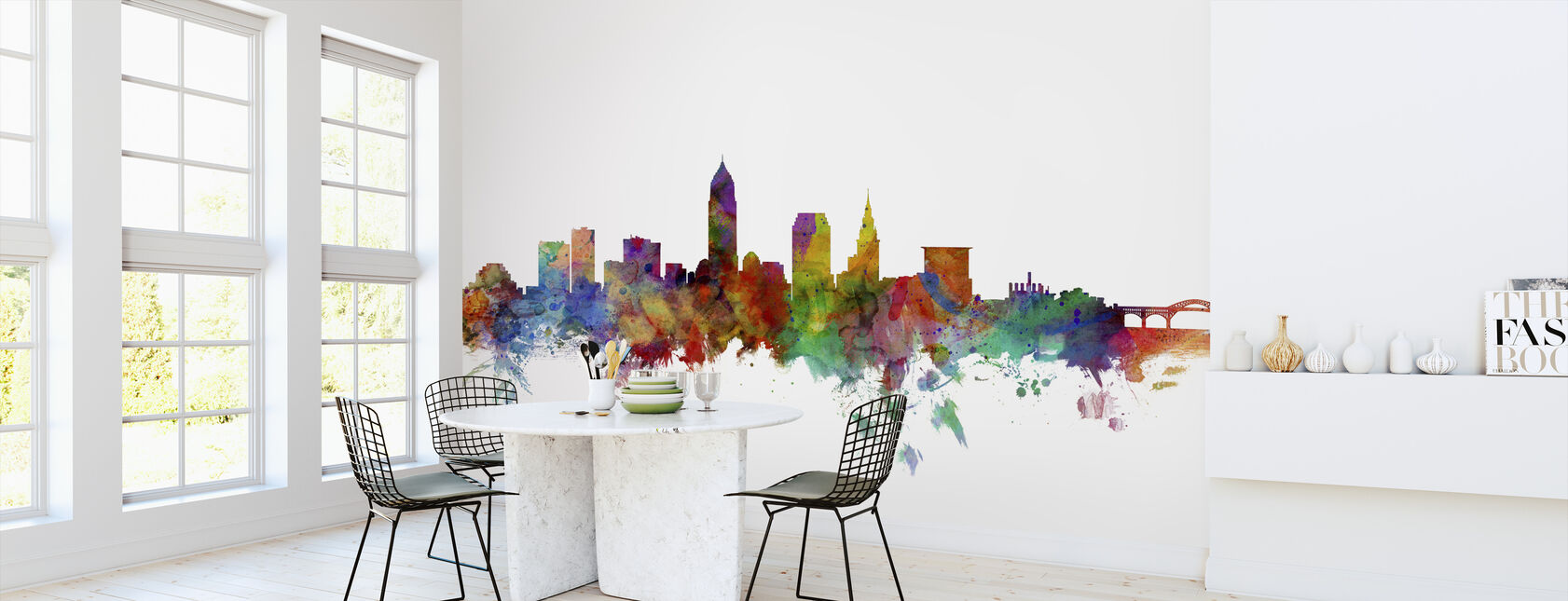 Cleveland Ohio Skyline - Wallpaper - Kitchen