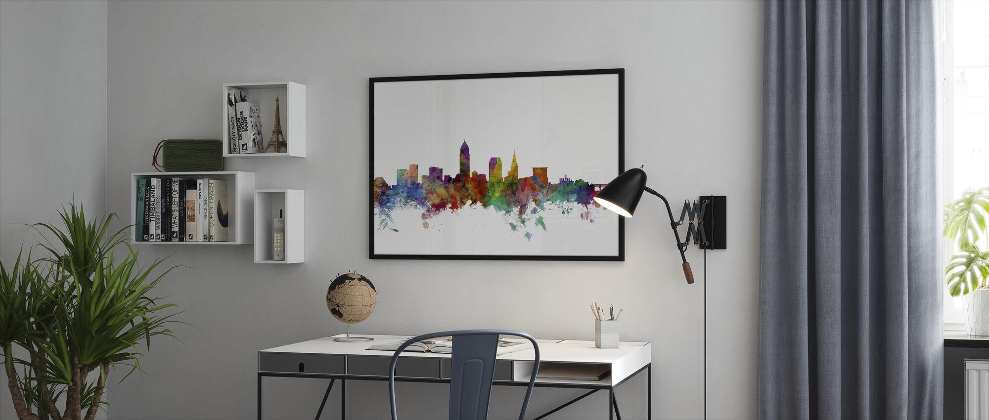Cleveland Ohio Skyline - Framed print - Office