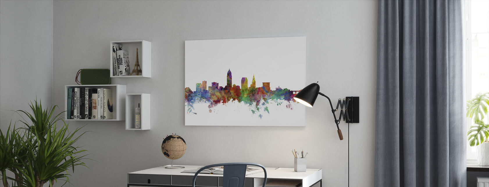 Cleveland Ohio Skyline - Canvas print - Office