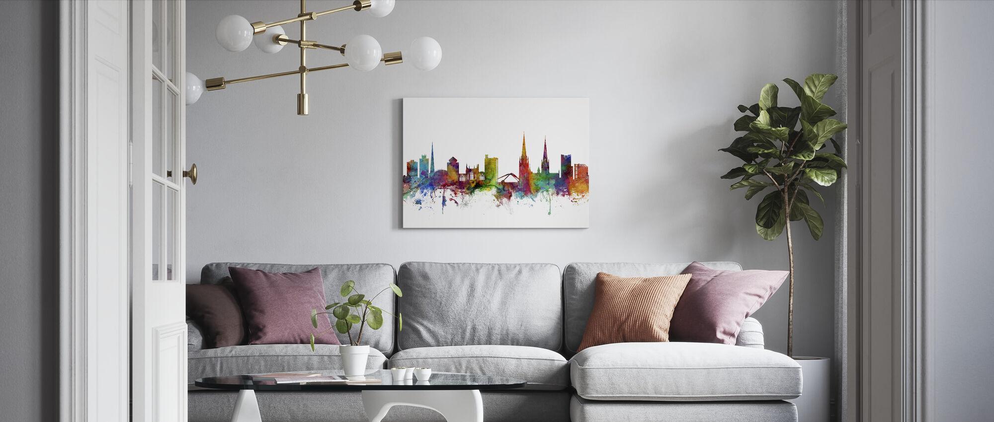 Coventry England Skyline - Canvas print - Living Room
