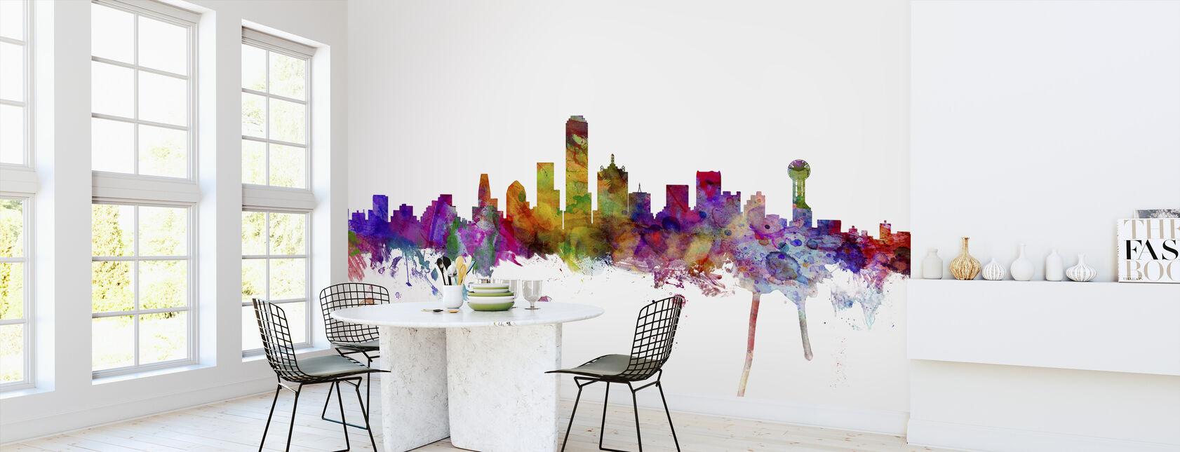 Dallas Texas Skyline - Wallpaper - Kitchen