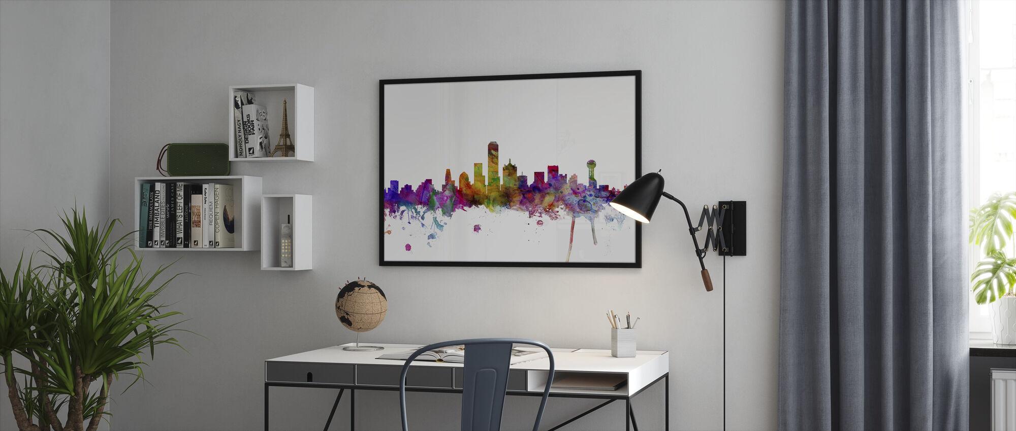 Dallas Texas Skyline - Framed print - Office