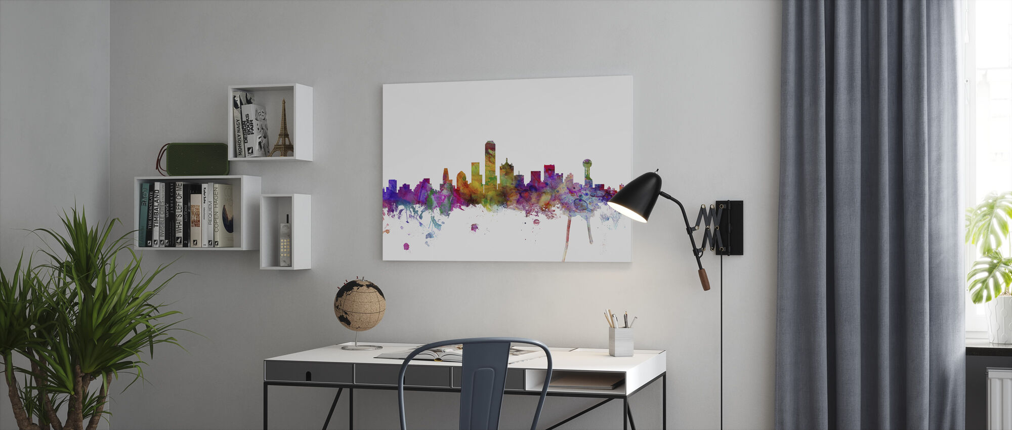 Dallas Texas Skyline - Lerretsbilde - Kontor