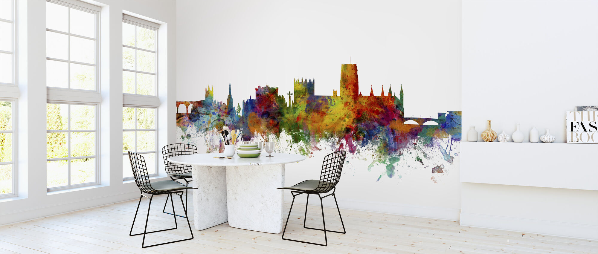 Durham England Skyline Cityscape - Wallpaper - Kitchen