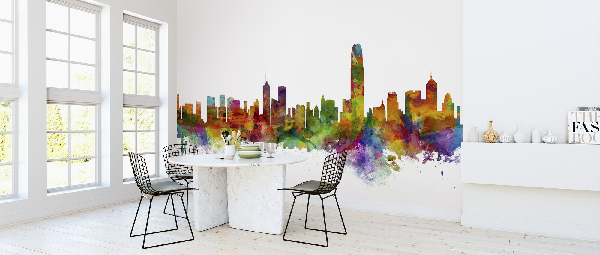 Hong Kong Skyline - Wallpaper - Kitchen