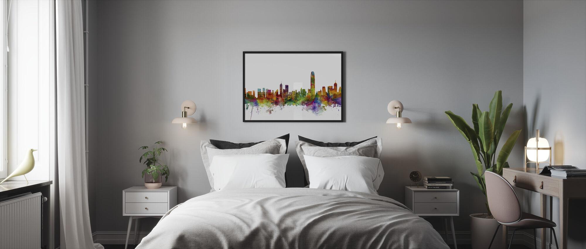 Hong Kong Skyline - Framed print - Bedroom