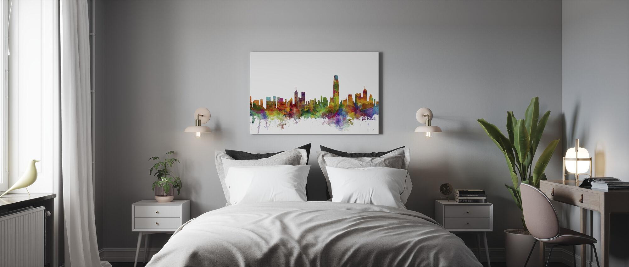 Hong Kong Skyline - Canvas print - Bedroom