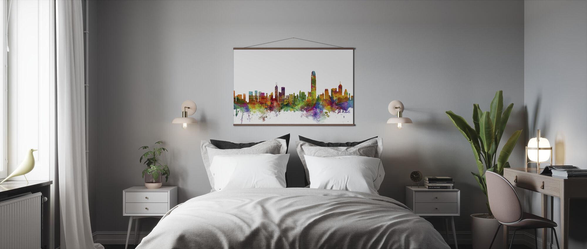Panorama Hongkongu - Plakat - Sypialnia
