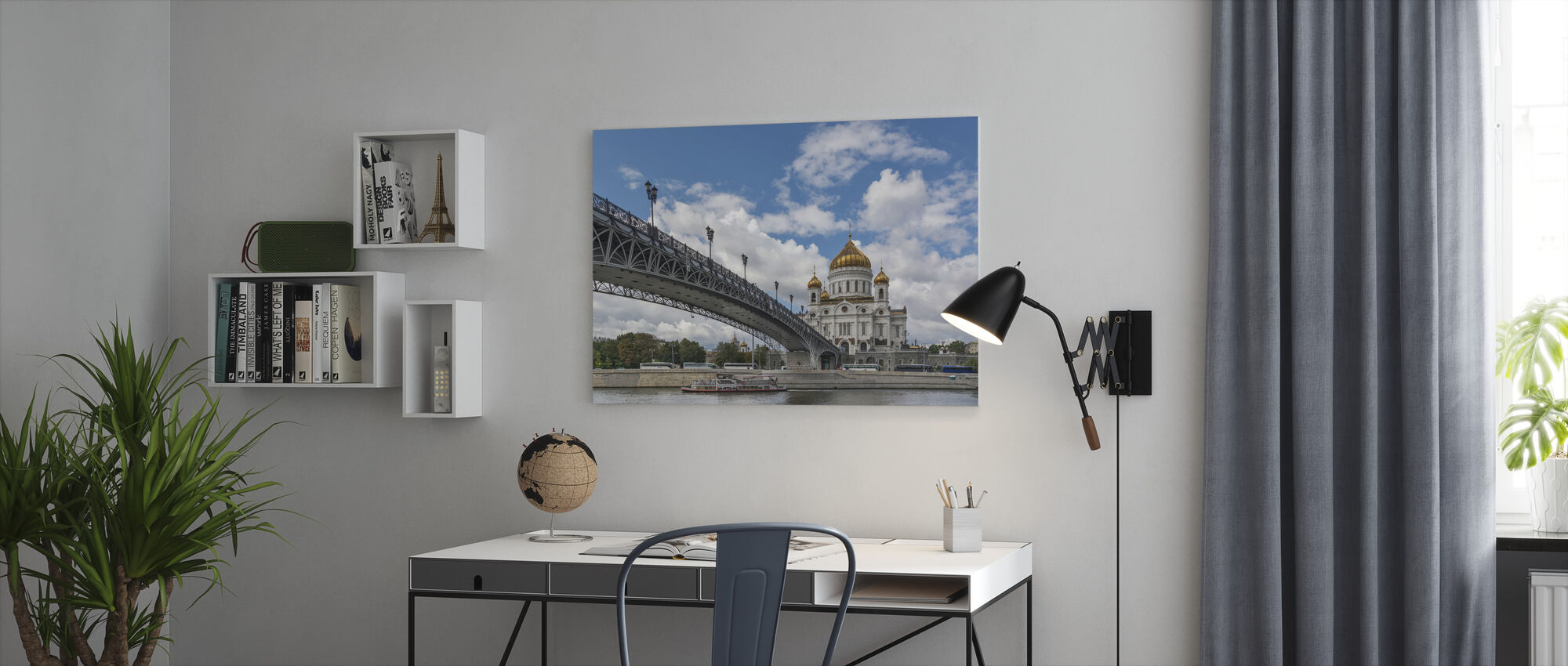 Bridge to Cathedral of Christ the Saviour - Canvas print - Office