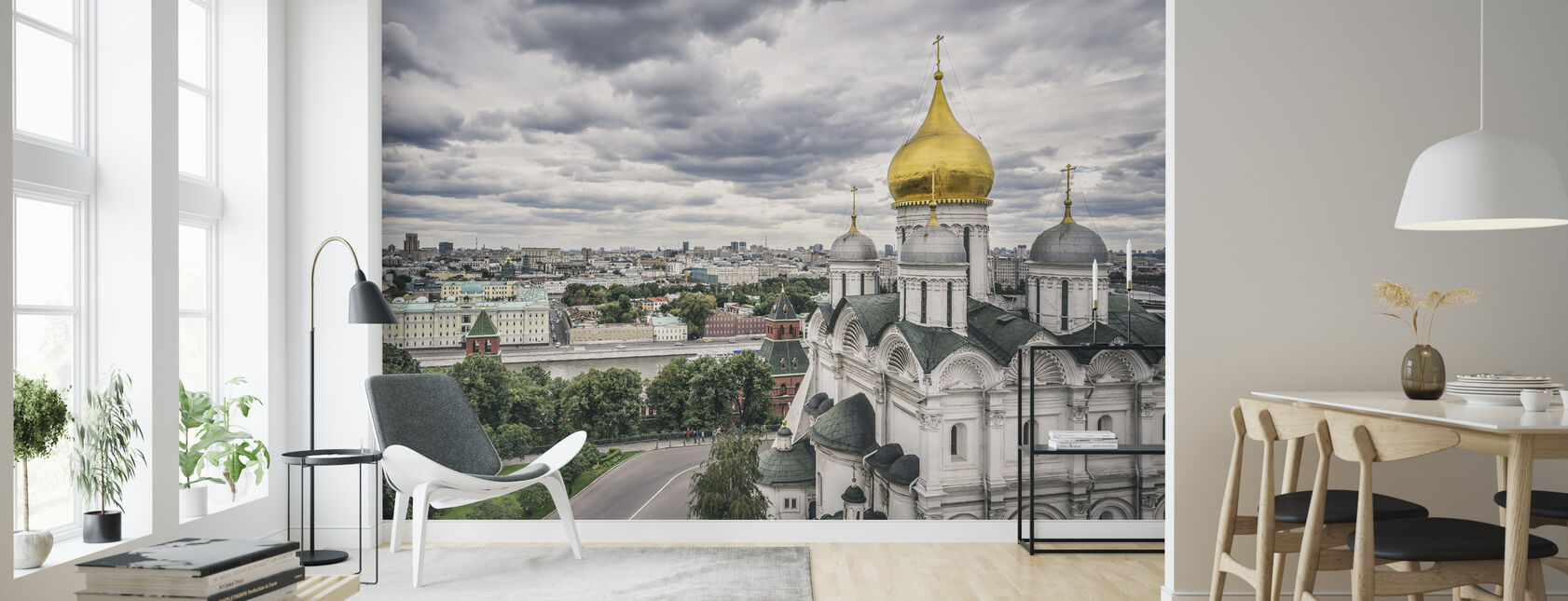Grijze hemel boven Kremlin - Behang - Woonkamer
