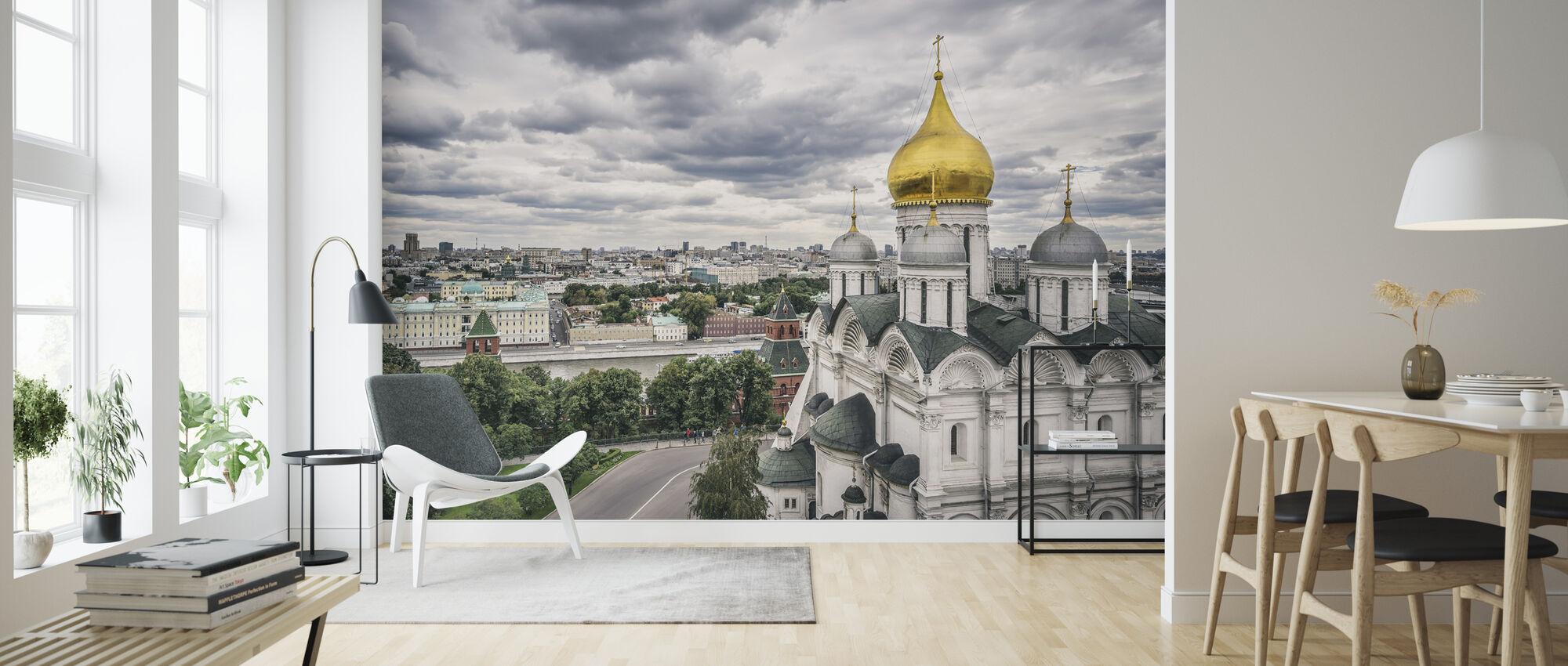 Grey Sky over Kremlin - Wallpaper - Living Room