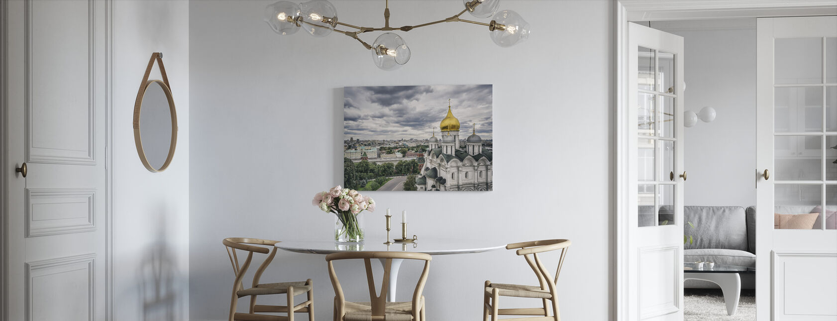 Grey Sky over Kremlin - Canvas print - Kitchen