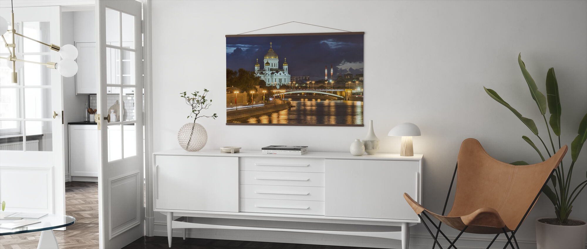 Illuminated Cathedral of Christ the Saviour - Poster - Living Room