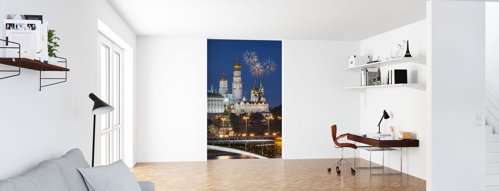 Fireworks over Kremlin - Wallpaper - Office