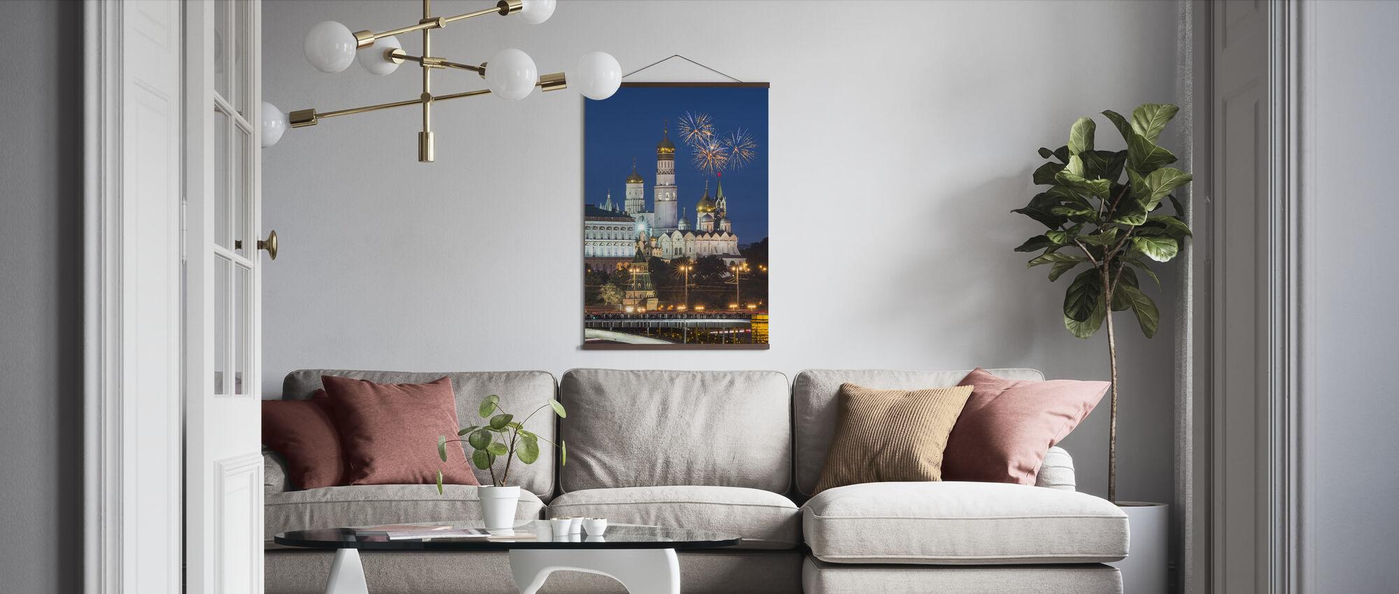 Fireworks over Kremlin - Poster - Living Room