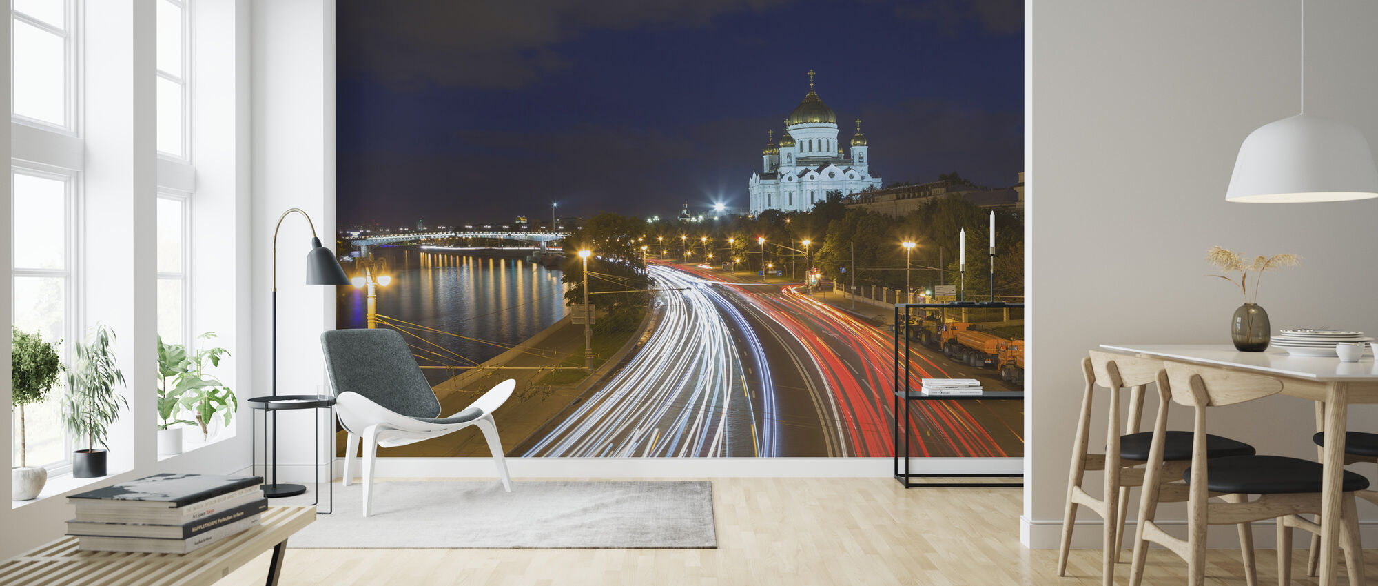 Moscow Traffic's Nacht - Behang - Woonkamer