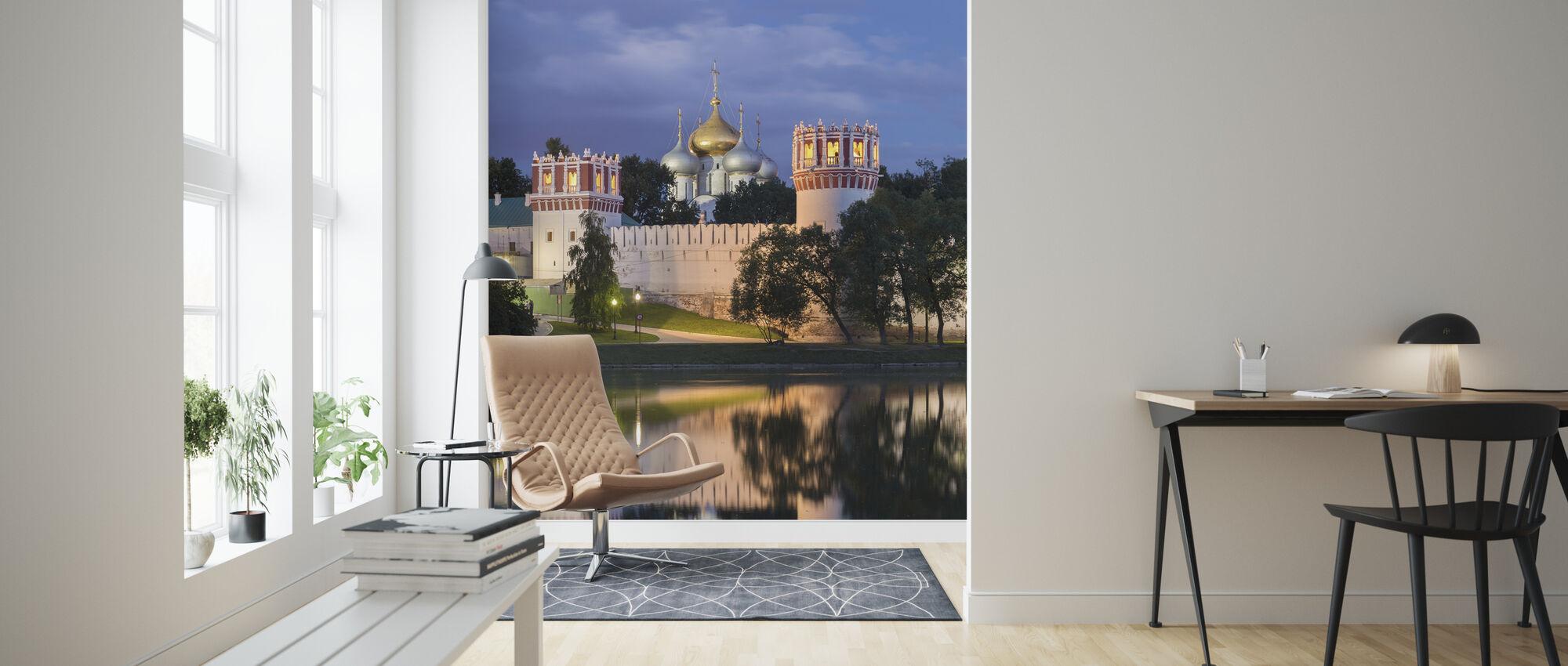 Novodevichy klooster in Moskou - Behang - Woonkamer