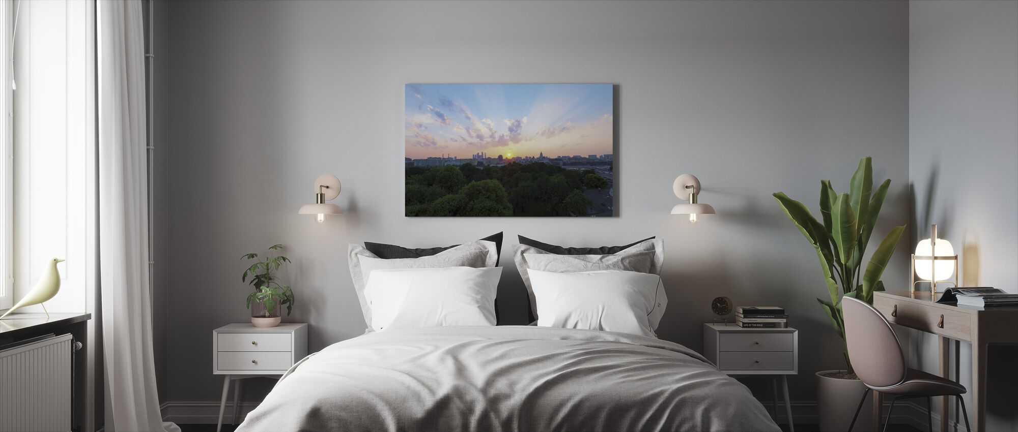 Pastel Sunset in Moscow - Canvas print - Bedroom